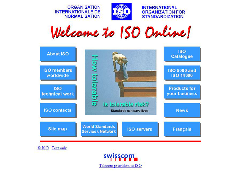 In 1995, ISO launches its first website.